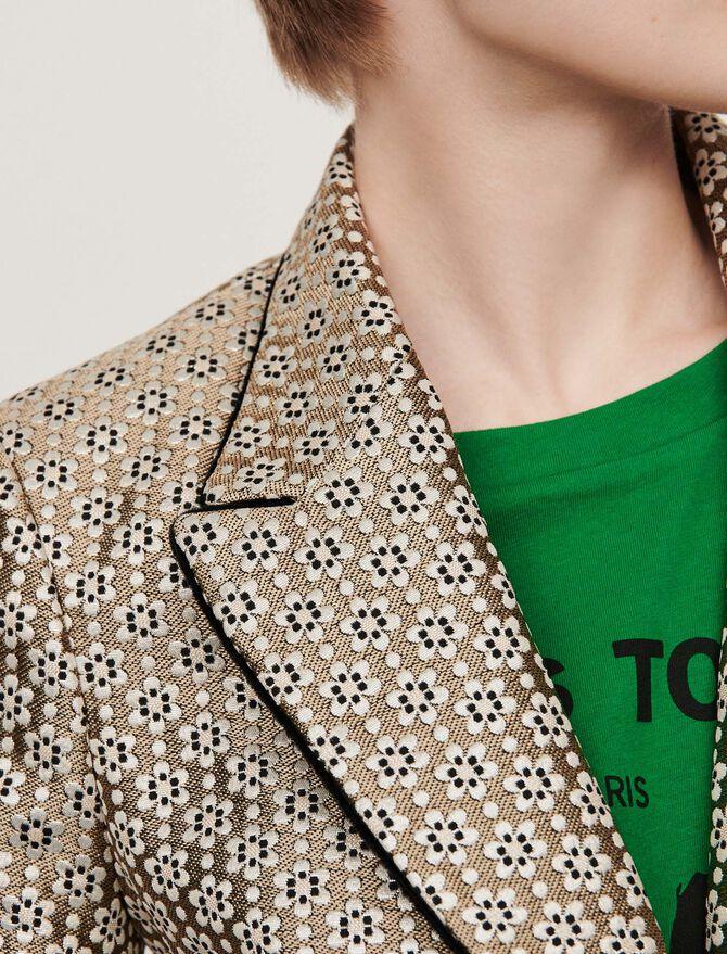 Lurex jacquard jacket - Coats & Jackets - MAJE
