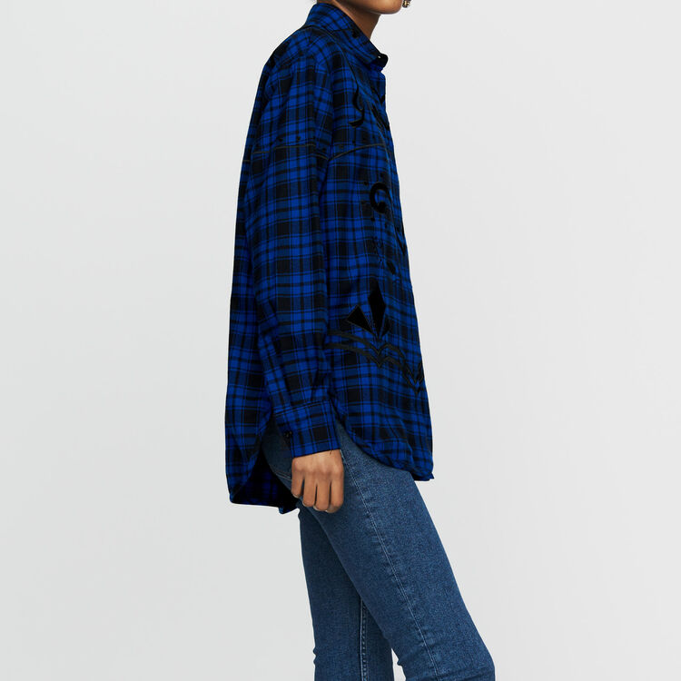 Check cotton shirt : Tops & Shirts color CARREAUX
