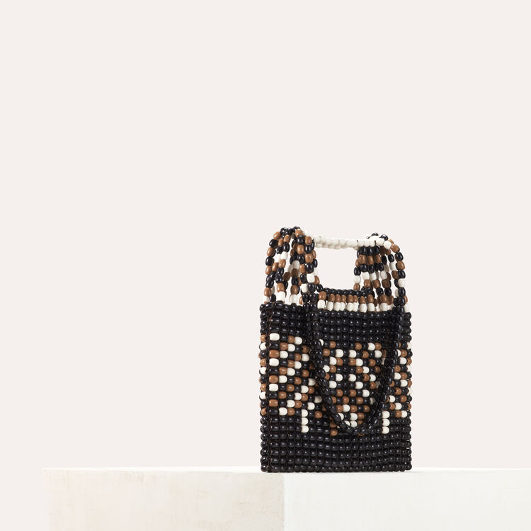 M bag in natural wood pearls : All bags color Multico