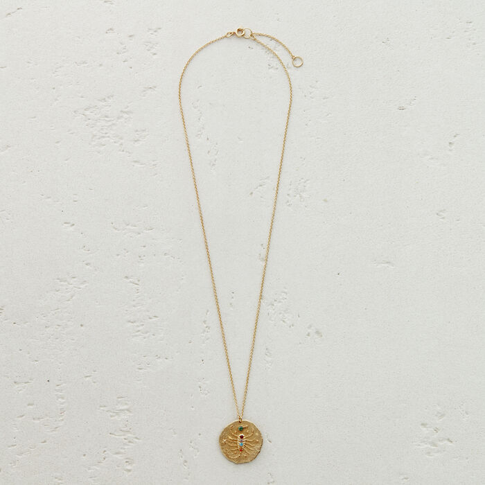 Scorpio zodiac sign necklace : Jewelry color GOLD