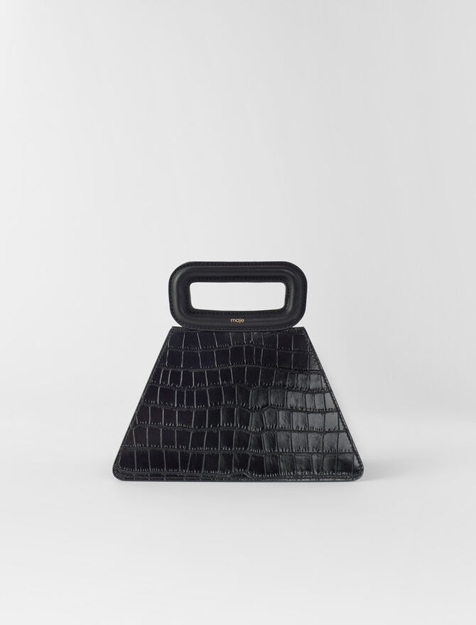 Crocodile-effect leather pyramid -  - MAJE