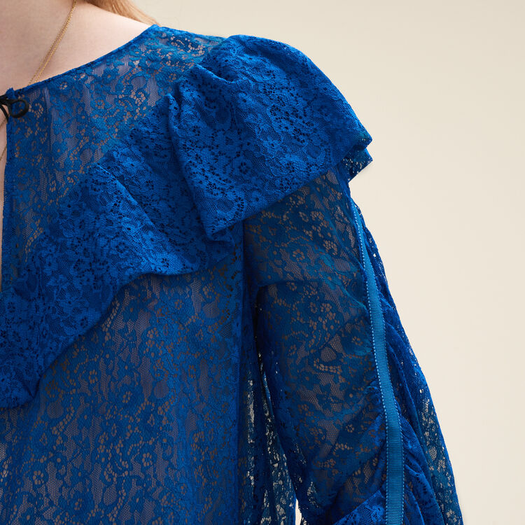 Lace top : Tops & Shirts color Blue
