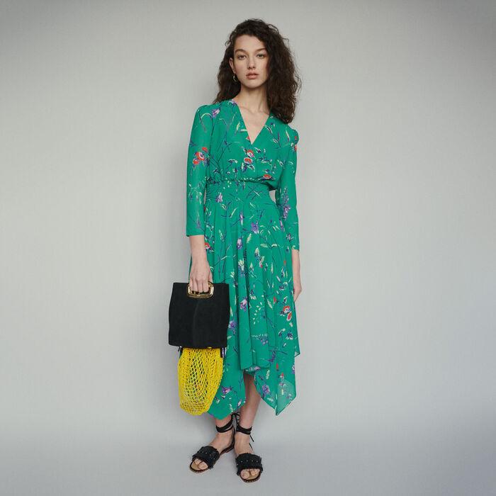 7704739ffdd70 RAYEMA Long dress in floral print - Dresses - Maje.com