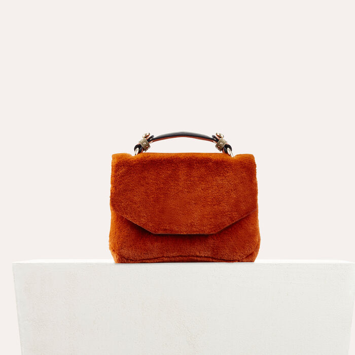 Faux fur evening bag : All bags color Caramel