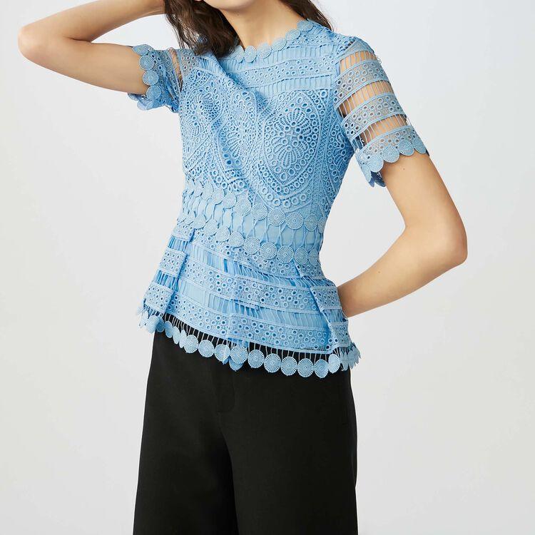 Contoured lace top : Tops & Shirts color ECRU