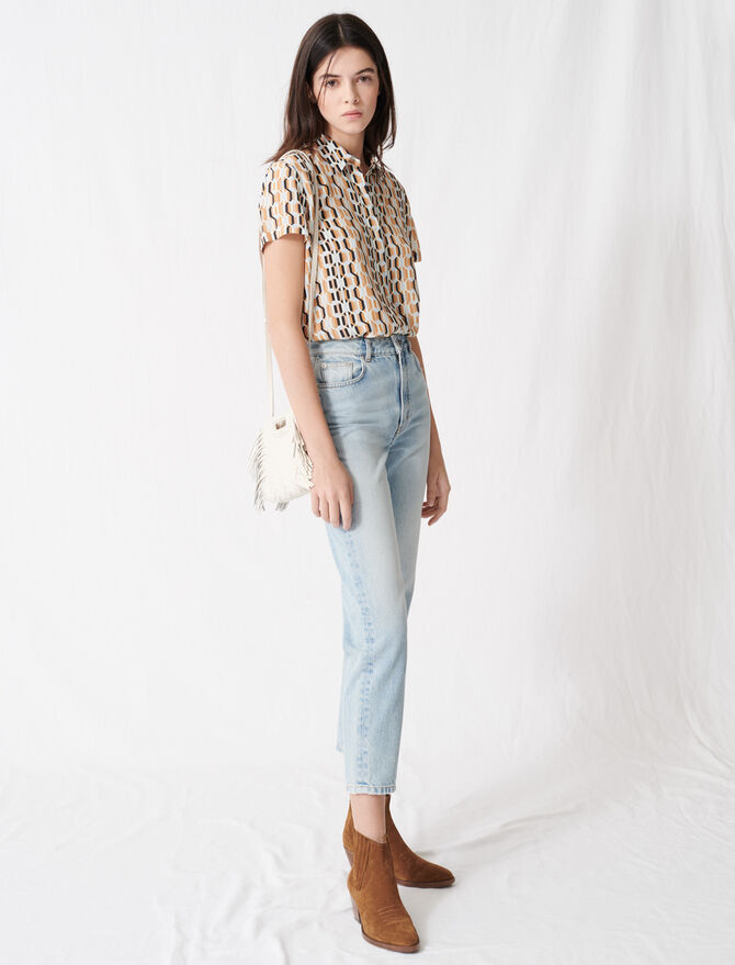 Mom-style high-waisted jeans - Pants & Jeans - MAJE