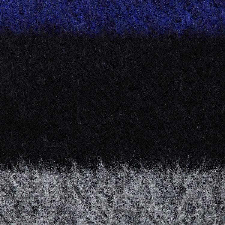 Echarpe en laine color block : Scarves color Purple