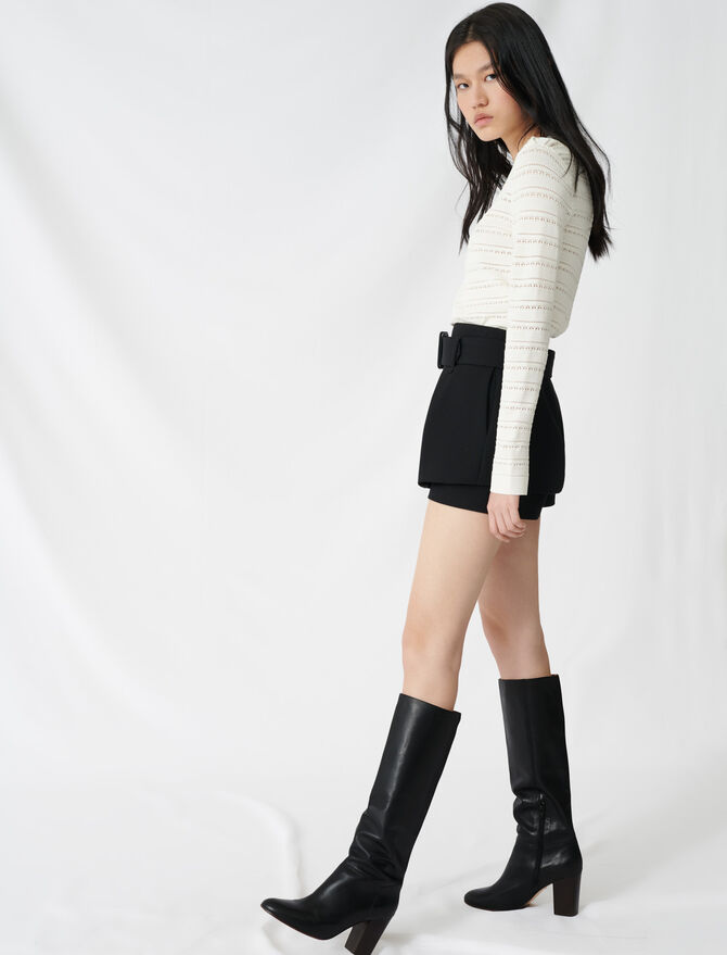 Short trompe l'oeil à pinces - Skirts & Shorts - MAJE