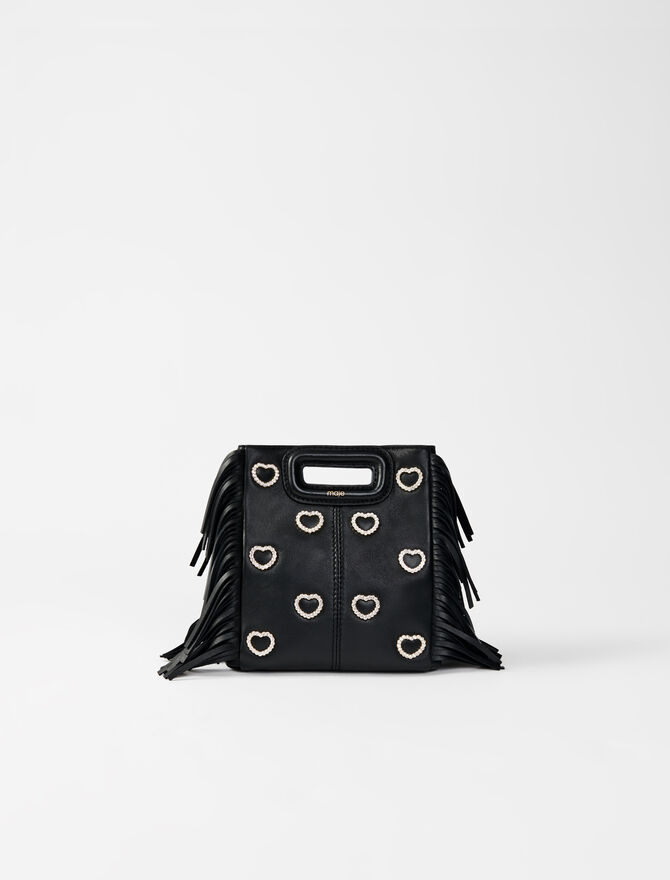 M mini bag leather and rhinestone -  - MAJE