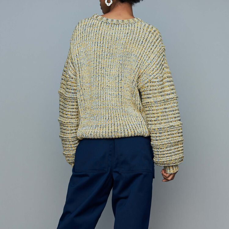 Oversize sweater in novelty knit : Sweaters color Multi-Coloured