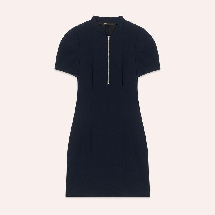 Short structured dress : Dresses color Navy