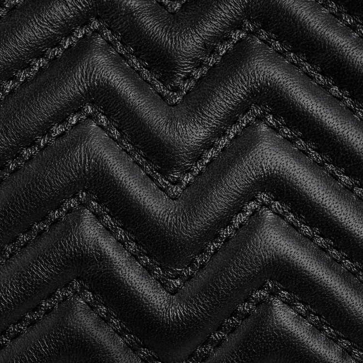 Quilted mini M bag with leather fringe : M Mini color Black