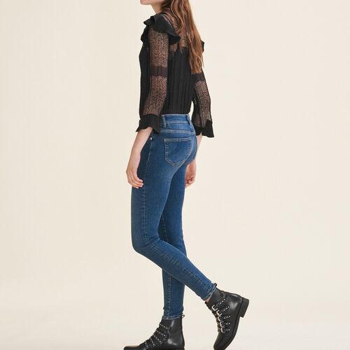 Faded slim jeans : Pants & Jeans color Blue