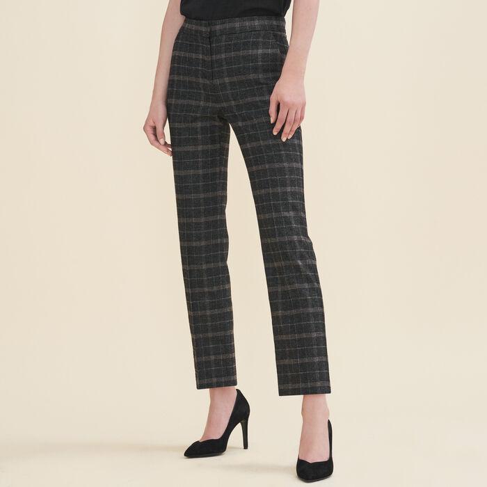 Tartan cigarette trousers : Pants & Jeans color Jacquard