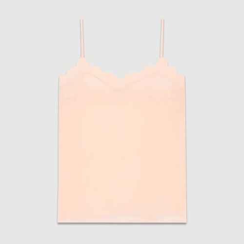 Crepe Caraco camisole : Tops & Shirts color Pink