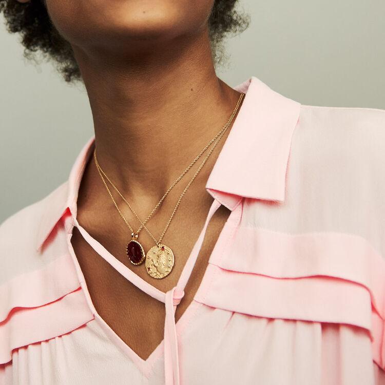 Shirt collar blouse : Tops & T-Shirts color PURPLE