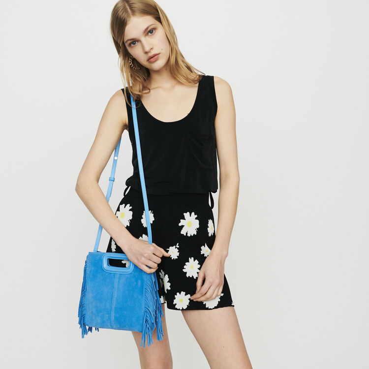 M bag with suede fringes : M Bags color Blue