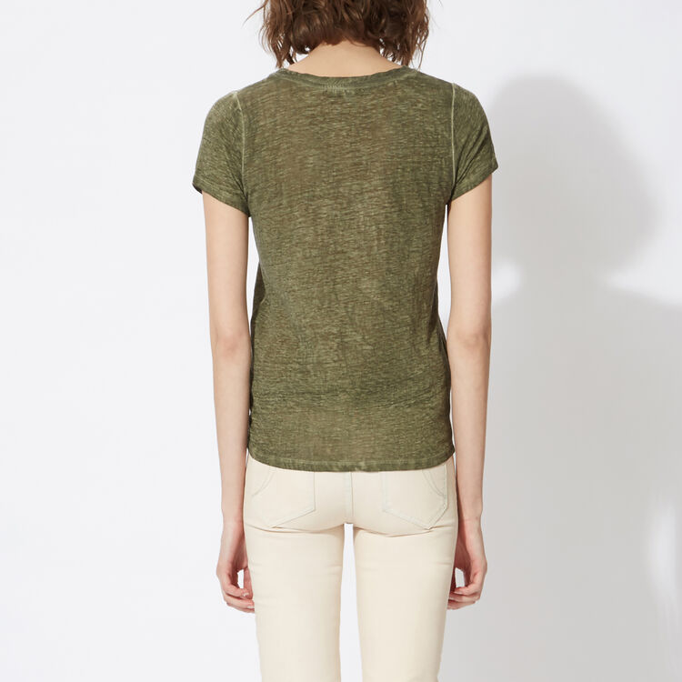 Faded linen T-shirt : null color