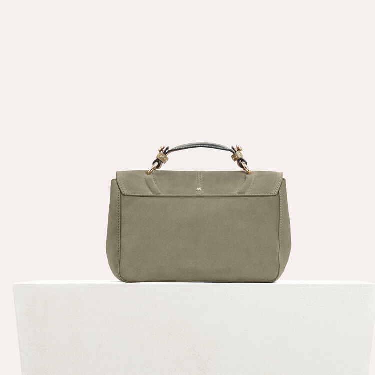 Mini satchel in suede with fringe : null color