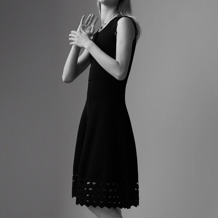 Sheer knit dress : Dresses color ROUGE