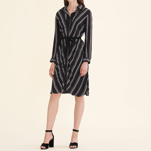Printed shirt dress - Dresses - MAJE