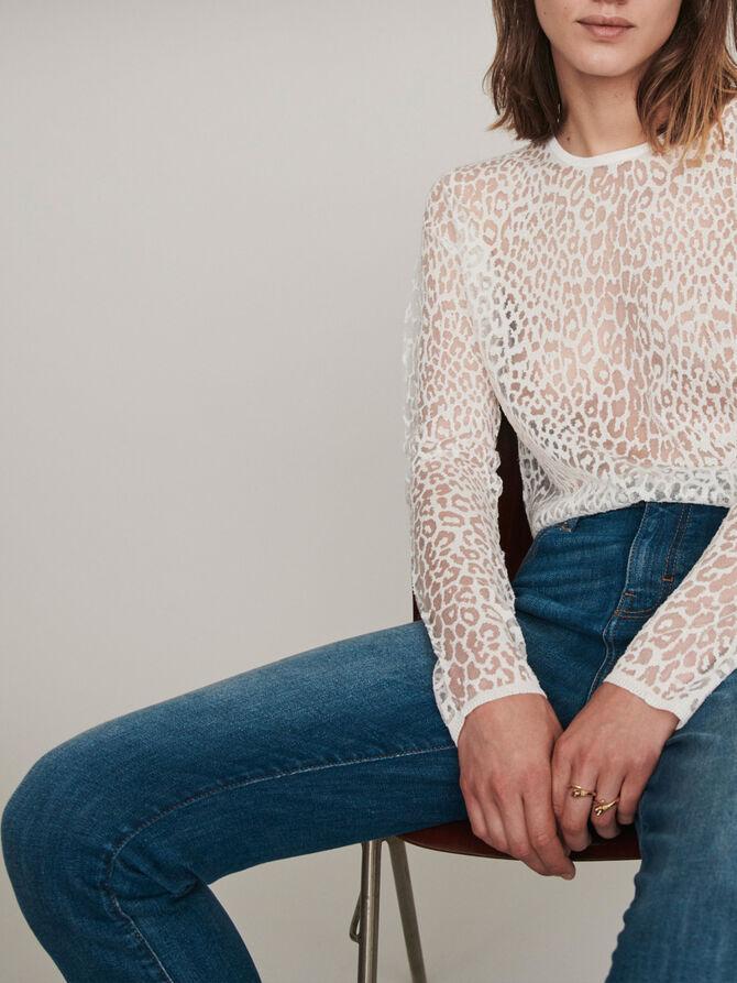 Devore t-shirt - Sweaters - MAJE