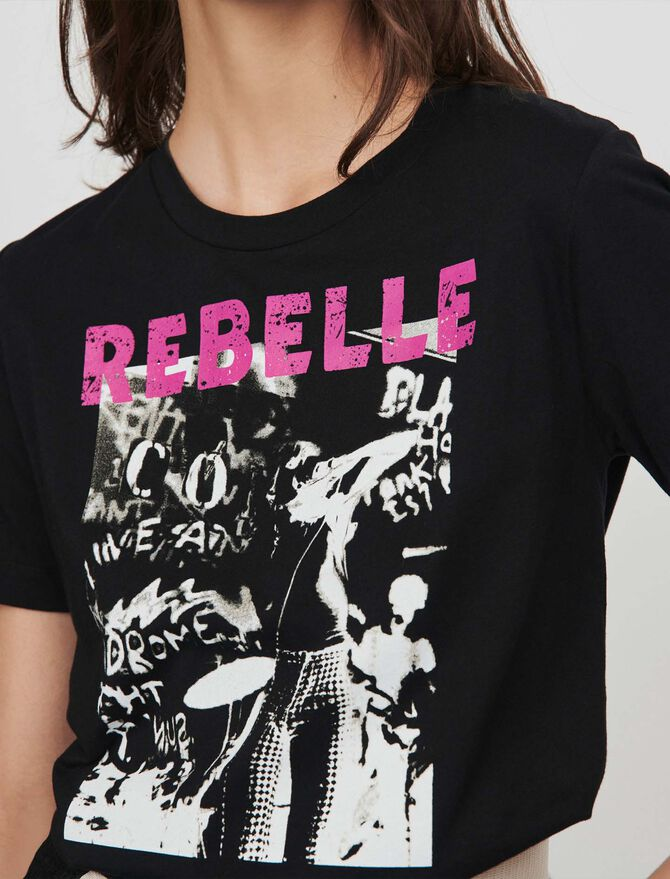 Silk screen printed tee shirt - T-Shirts - MAJE