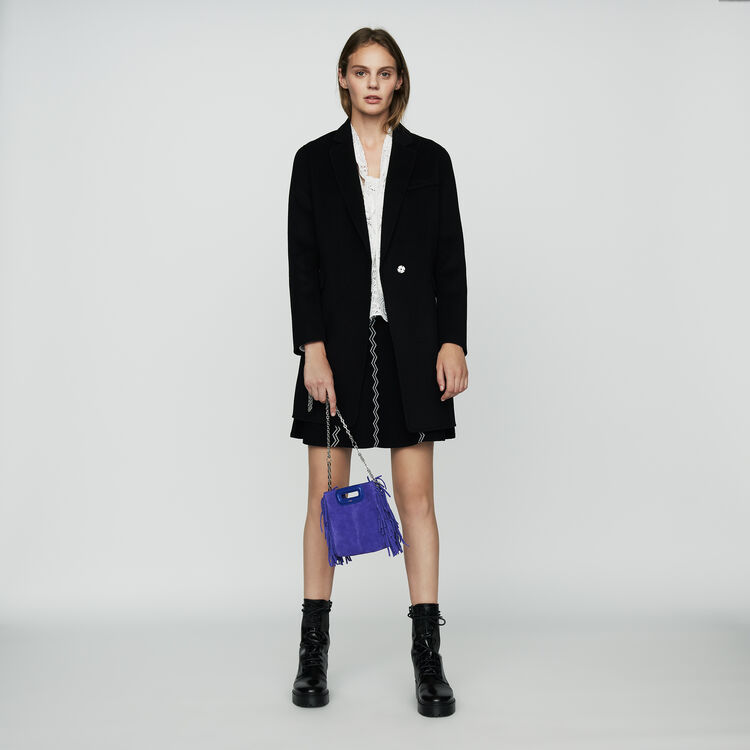 Mini M bag in suede with chain : M Mini color Purple