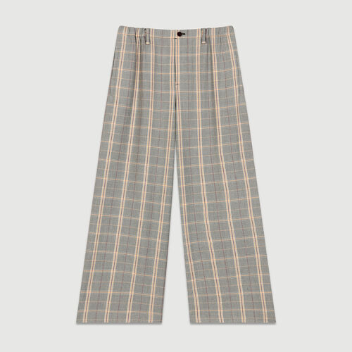Wide-leg checked trousers : Pants & Jeans color CARREAUX