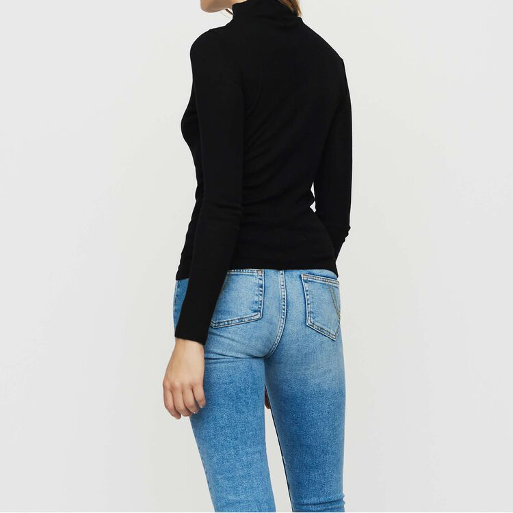 Tee shirt in wool jersey : The Spring Essentials color BLACK