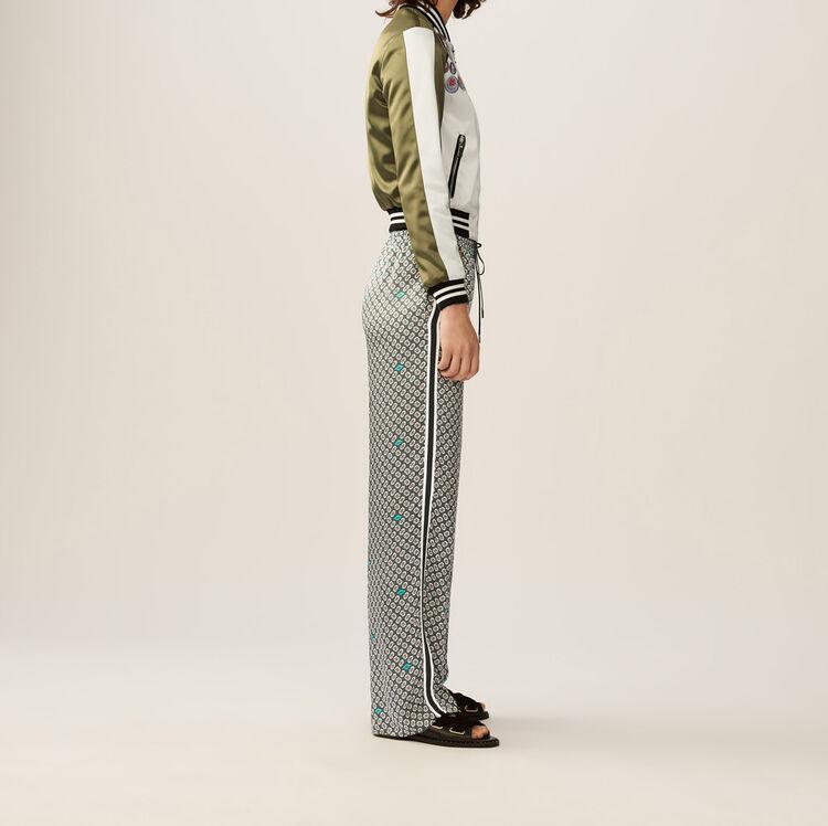 Flowing floral pants : Pants & Jeans color PRINTED