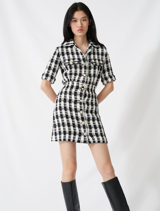 Tweed-style mini dress - Dresses - MAJE