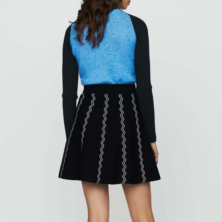Skater jacquard knit skirt : Skirts & Shorts color Black 210