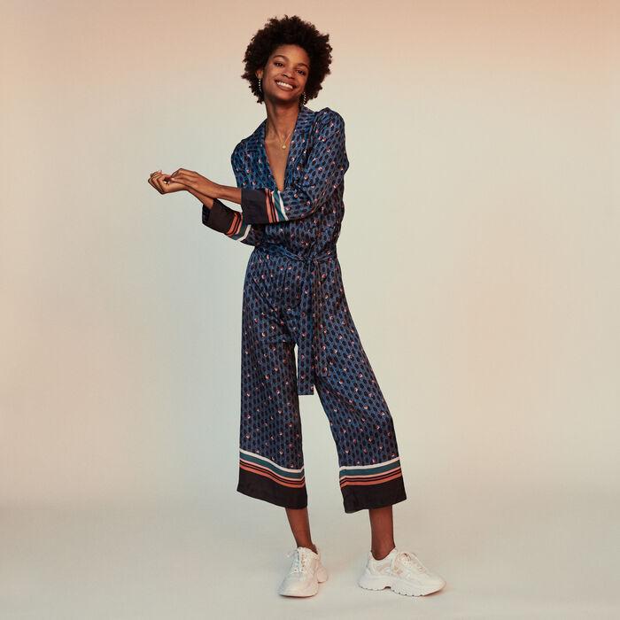 Monogram printed trouser suit : Jumpsuits & Rompers color PRINTED