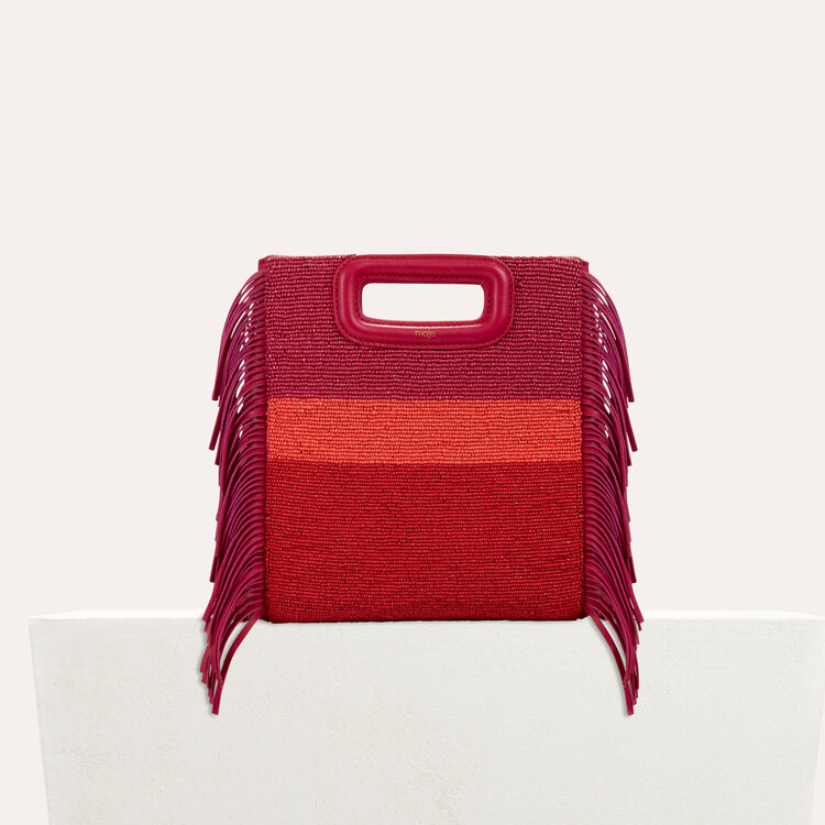 Sheepskin M bag with beads : Shoes & Accessories color Raspberry