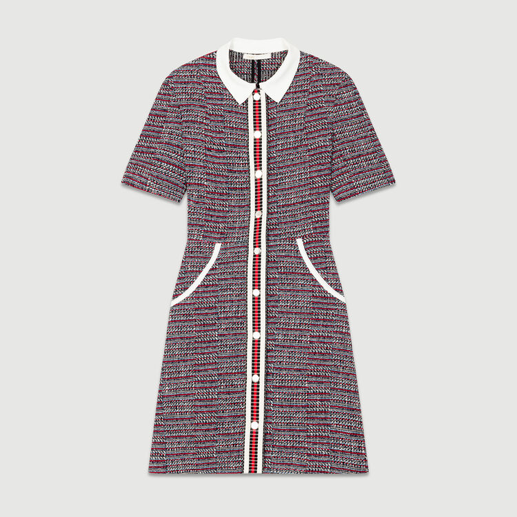 Tweed dress : Pre-collection color Jacquard