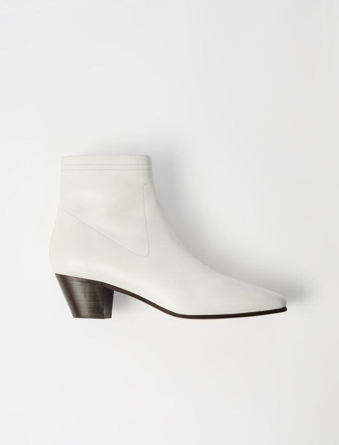 Leather sock boots - Shoes & Accessories - MAJE