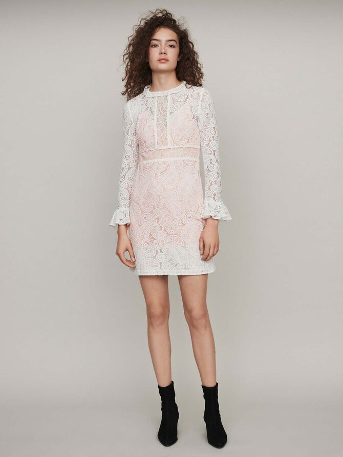 Shortguipure lace dress - Dresses - MAJE