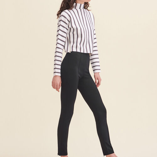 Leggings with stirrups : Pants & Jeans color Black 210