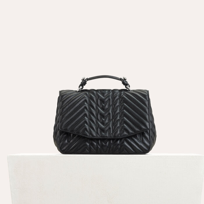 Mini satchel in quilted leather : All bags color Black 210