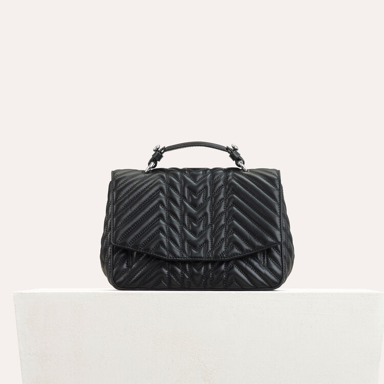 Mini satchel in quilted leather : Shoes & Accessories color Black 210