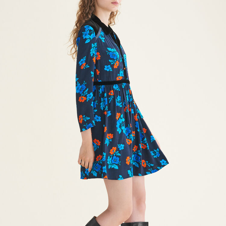 Pleated printed dress : null color