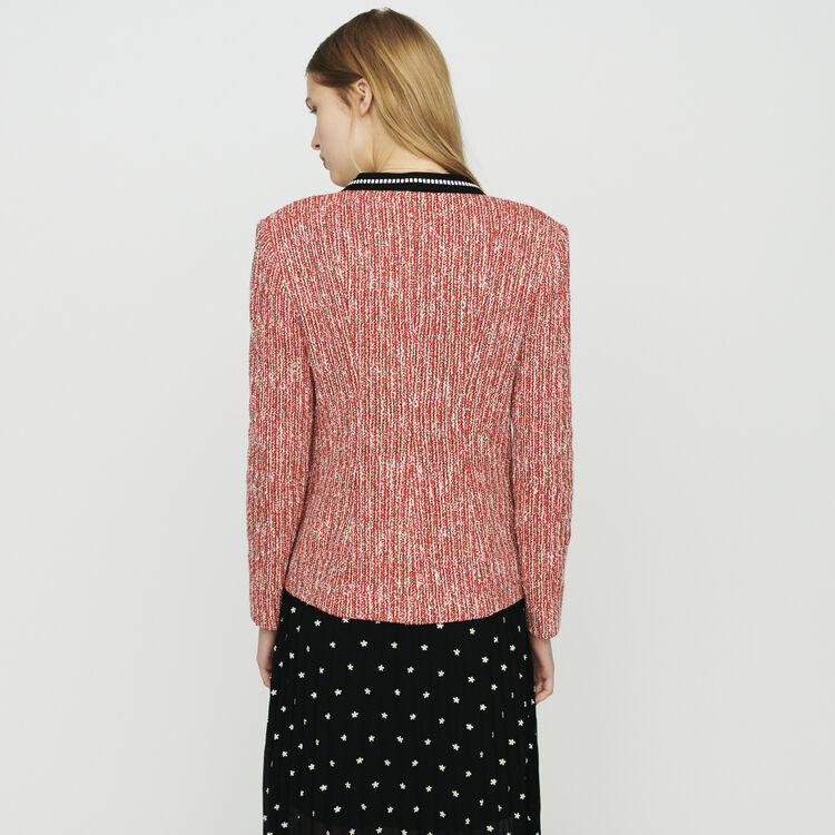 Tweed-style jacket : Coats & Jackets color Red
