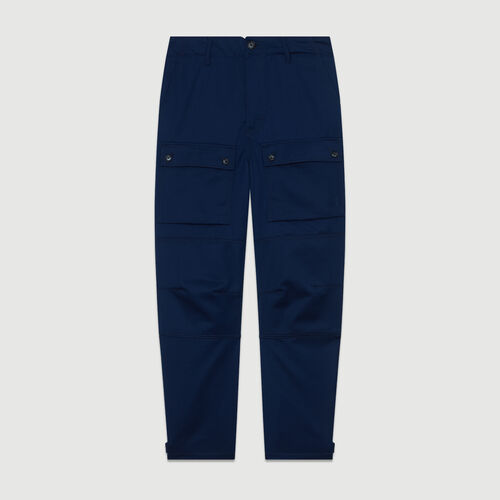 Worker-style wide pants : Pants & Jeans color Blue