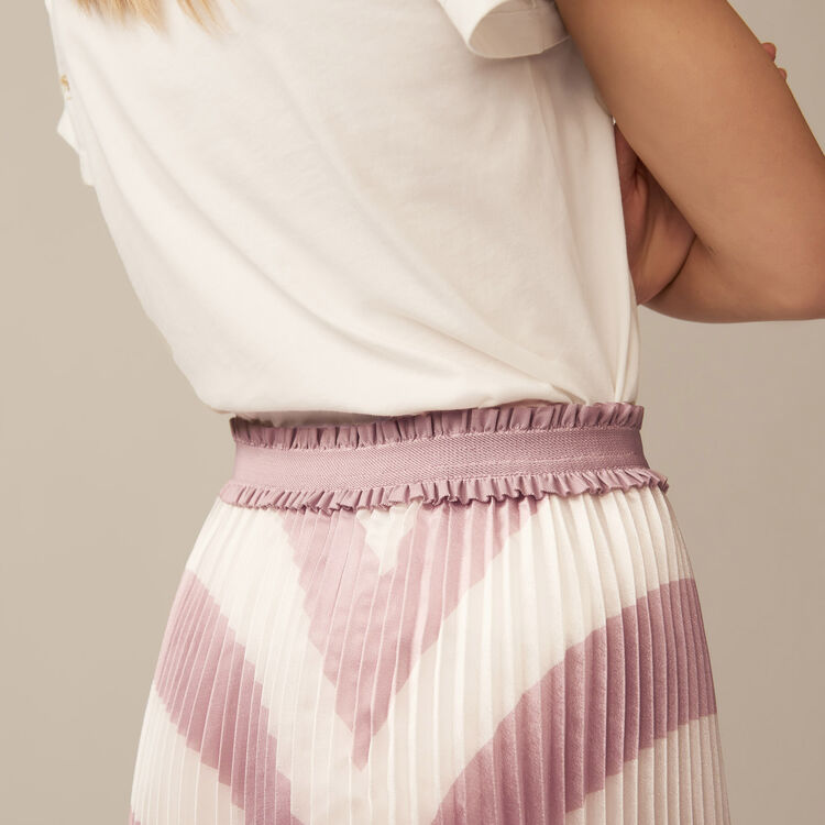 Pleated stripe skirt : Skirts & Shorts color PURPLE