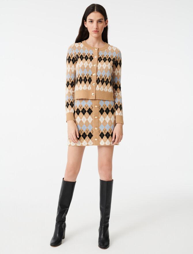 Short jacquard cardigan -  - MAJE