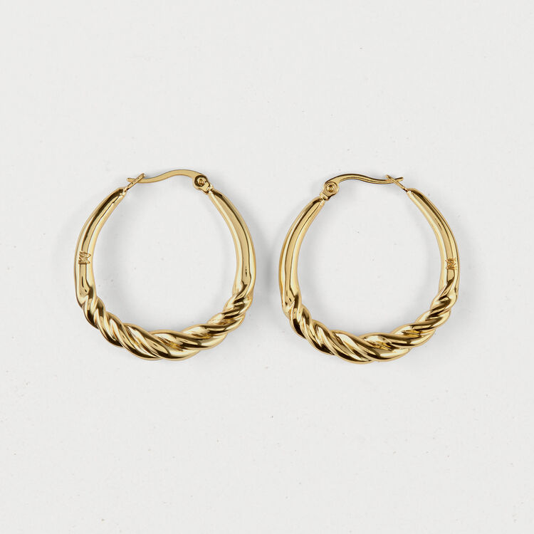 Twisted hoop earrings : Shoes & Accessories color GOLD