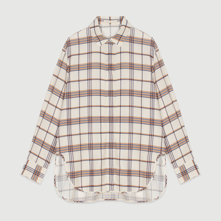 Plaid loose shirt : Tops & T-Shirts color CARREAUX