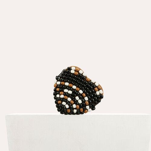 Crossbody bag with wooden pearls : Handbags & Purses color Multico