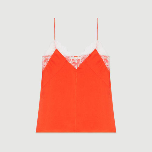 Lace camisole : Tops & T-Shirts color Orange
